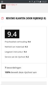 Reviews klanten